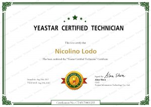 Certificazione Yeastar Certified Technician