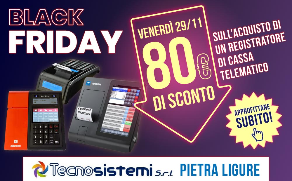 Black Friday Registratori di cassa telematici RT