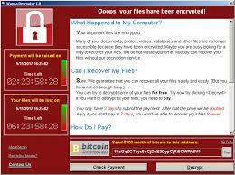 schermata di ransomware