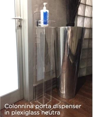 colonna con dispenser per l'erogazione di gel igienizzante mani 2