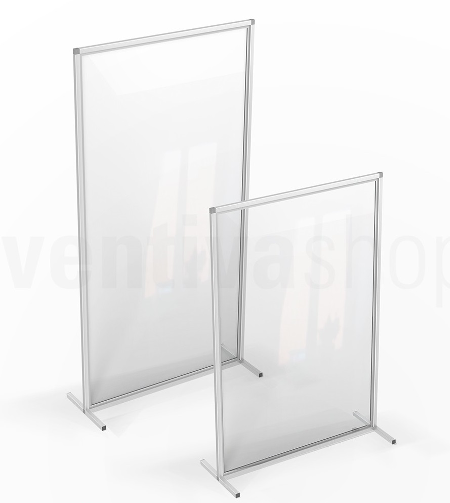 parete divisoria da terra in plexiglass