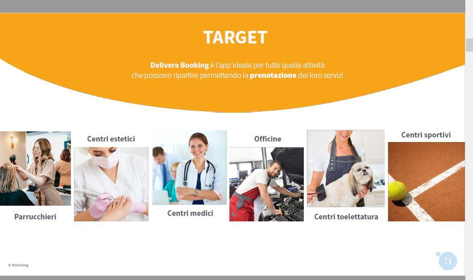 DElivera Booking App per gestire servizi su appuntamento
