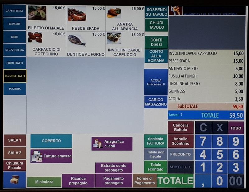 Fatturazione elettronica, schermata